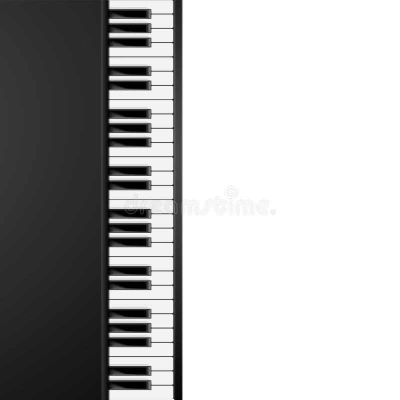 Piano Keys Background. Detailed illustration of a vertical aligned piano keys background vector illustration