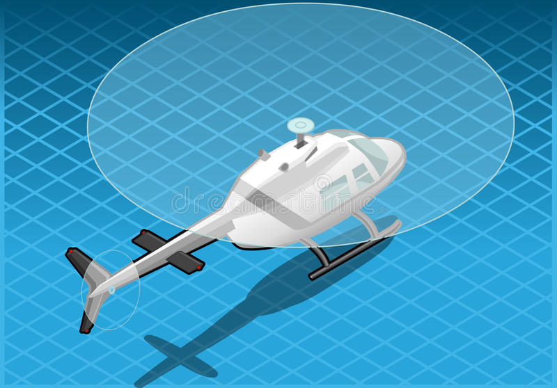 Download Isometric White Helicopter In Flight Stock Vector - Illustration of engine, discovery: 29872259