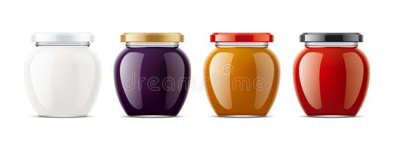 Clear Jar mockup. royalty free stock image