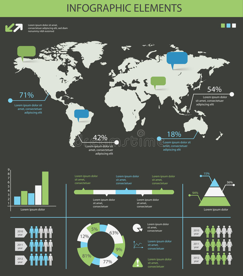 Detailed infographic elements set with world map graphics and ch detailed infographic elements set with world map graphics and charts eps8 gumiabroncs Image collections