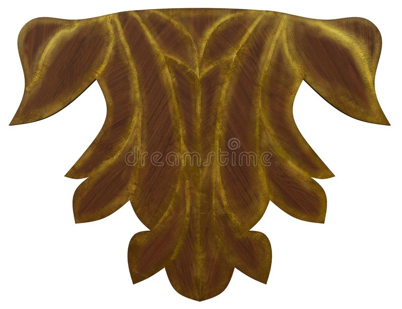 Classic veneer inlay. Detailed inlay of veneer of classical elements for furniture, floors, ceilings and walls vector illustration