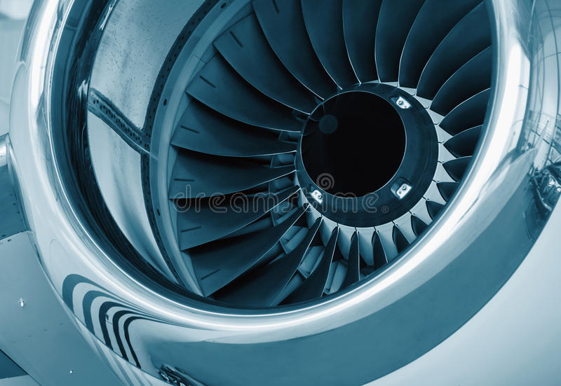 Detailed Insight Into Jet Turbines Stock Photo - Image of mechanic ...