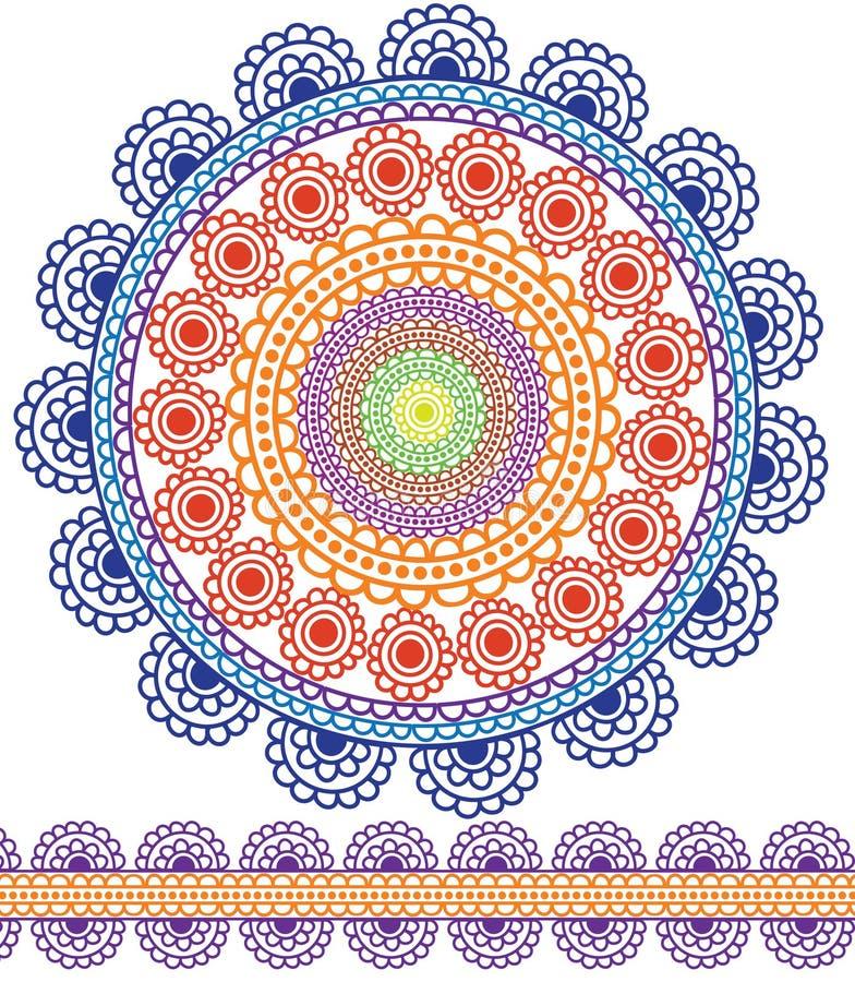 Download Detailed Mandala Design stock vector. Illustration of rangoli - 21549594