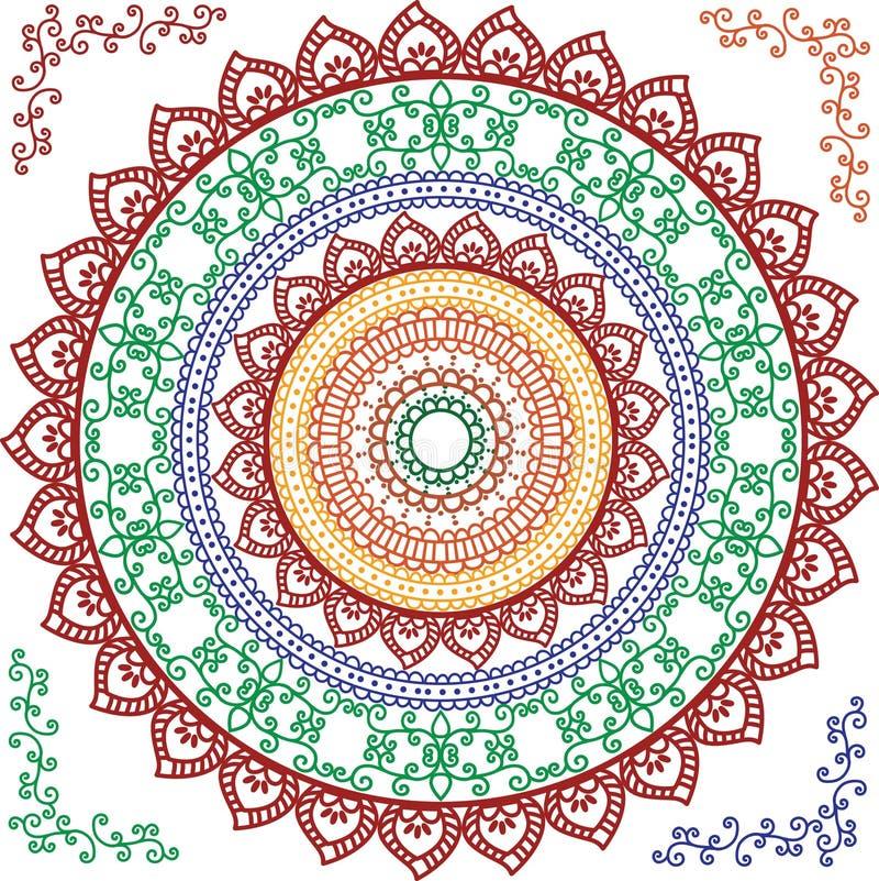 Download Detailed Mandala Design stock vector. Image of mehendi - 21549607