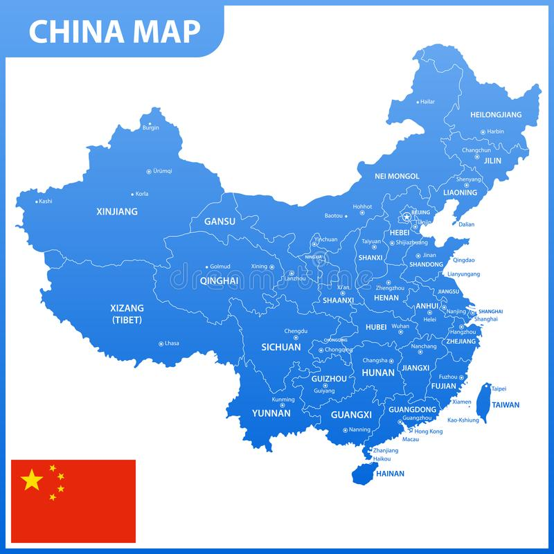 download the detailed map of the china with regions or states and cities capitals