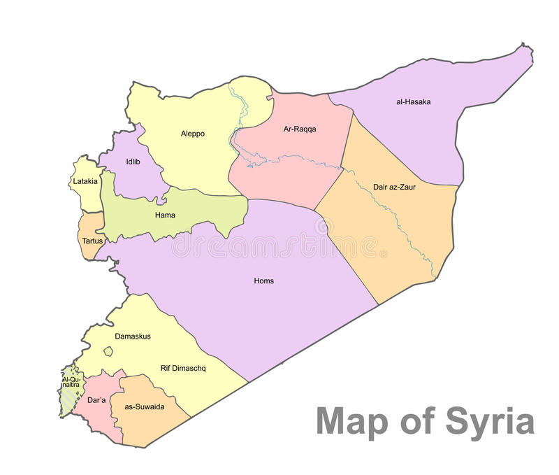 download detailed map of syria on a white background syria highly detailed political map