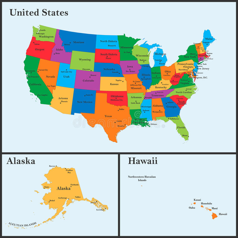 download the detailed map of the usa including alaska and hawaii the united states of