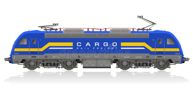 Download Detailed Model Of Electric Locomotive Stock Vector - Image: 20687173