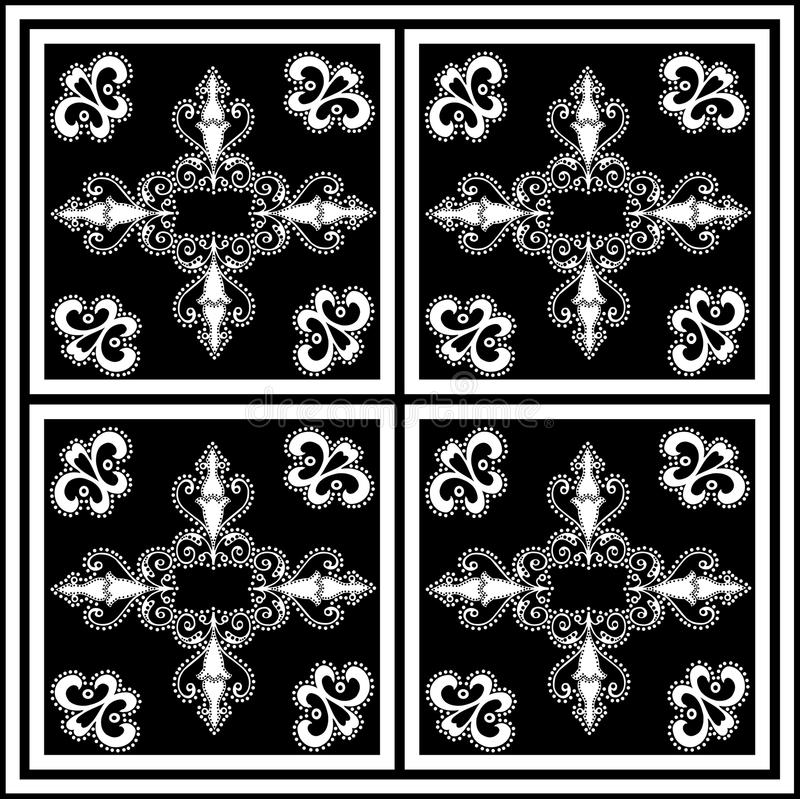 Black and white square tile royalty free stock image