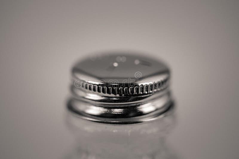 Detailed monocrome macro shot of a salt shaker. Kitchen stock images