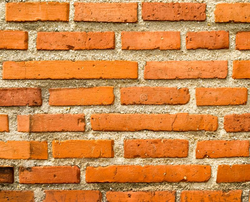 Detailed old red brick wall background texture stock photos