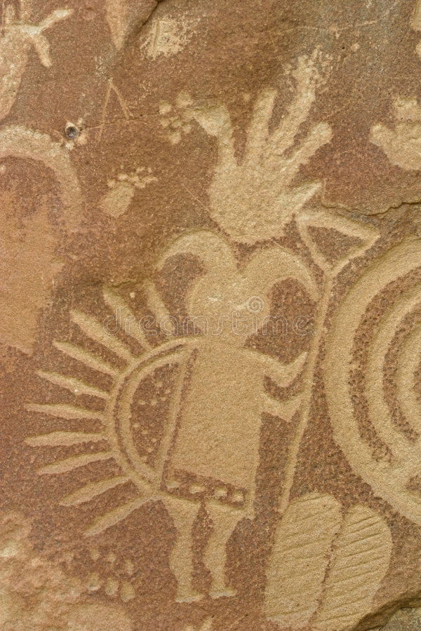 Free Detailed Petroglyph Royalty Free Stock Photography - 9230867