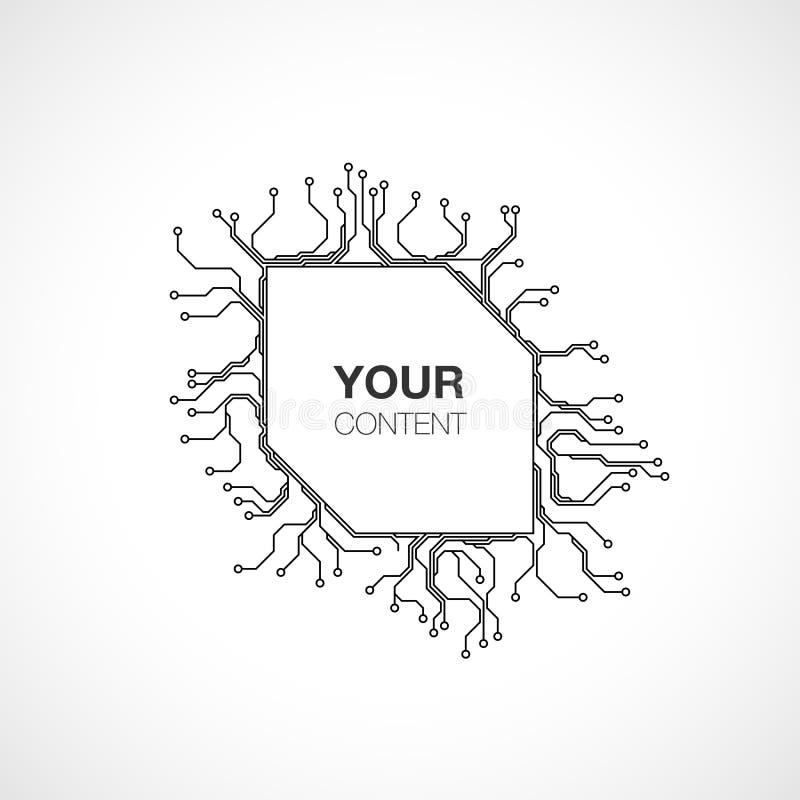 printed circuit board design stock illustration