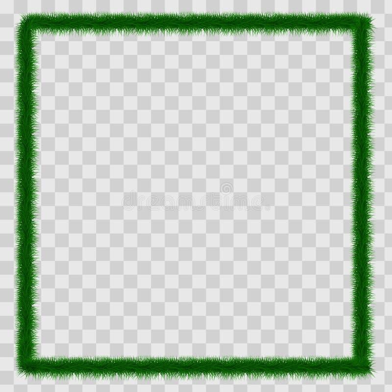 Detailed seamless Christmas garland of fir branches for greeting card, showcase, banner, website, header. Vector. Illustration vector illustration