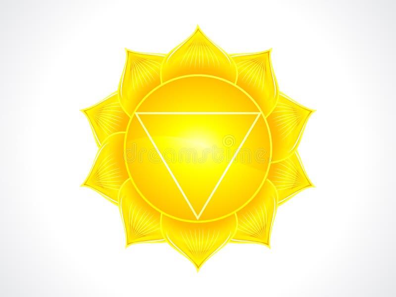 Detailed solar plexus chakra stock illustration
