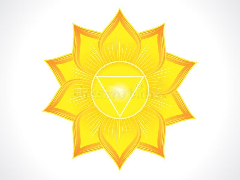 Detailed solar plexus chakra. Vector illustration royalty free illustration