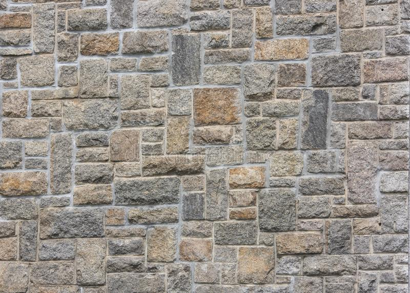 Detailed Stone Wall Background with Texture royalty free stock photography