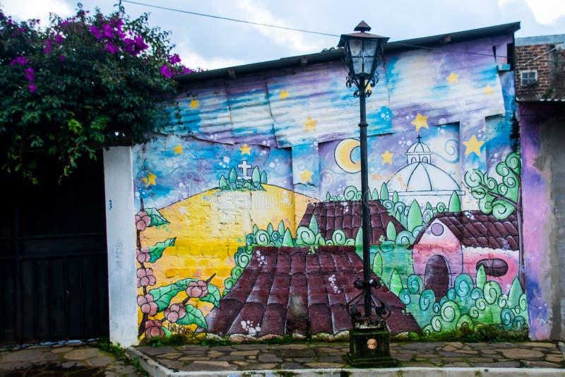 Detailed Streets of Concepción de Ataco. stock image