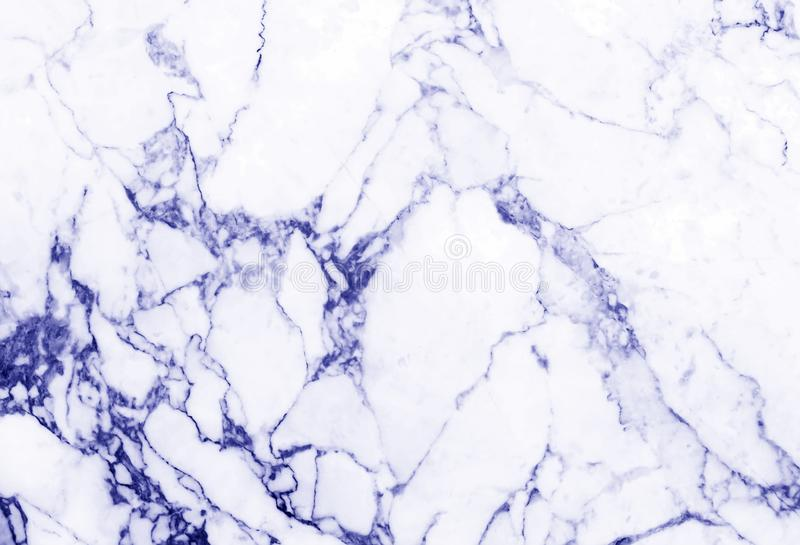 Detailed structure of blue marble in natural pattern for background and design stock image