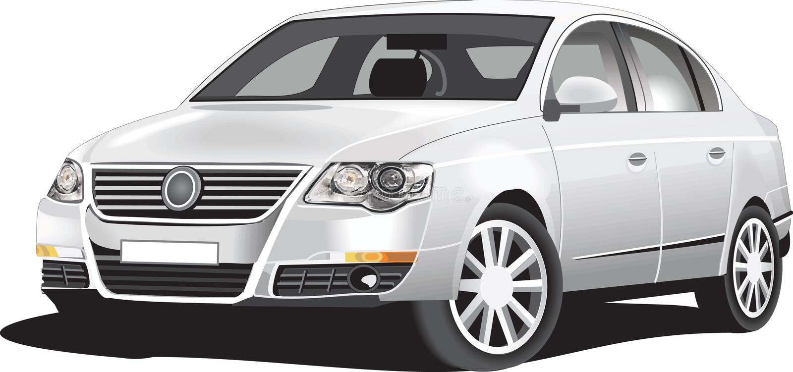 Download Detailed vector car stock vector. Image of object, machine - 9500425
