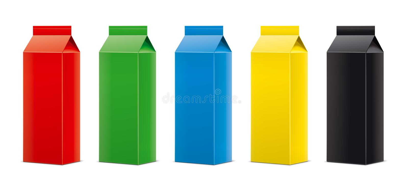 Mockups for packaging drinks. Version. stock image