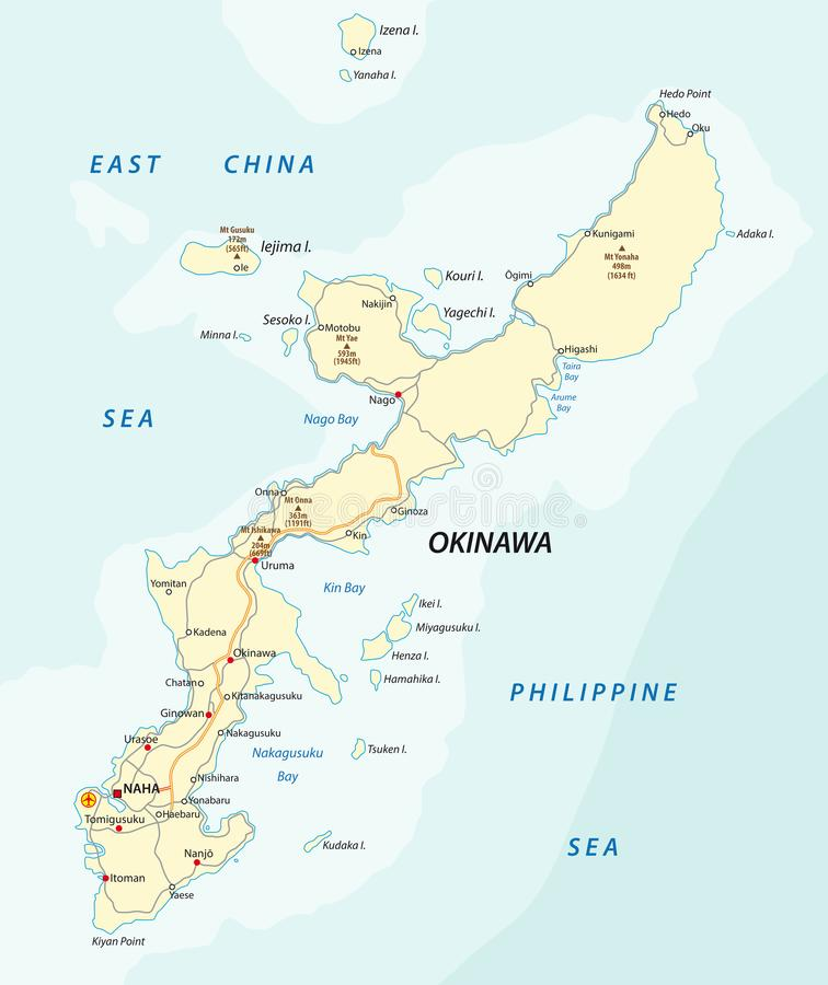 Detailed vector road map of japanese island okinawa japan stock download detailed vector road map of japanese island okinawa japan stock vector illustration of gumiabroncs Gallery