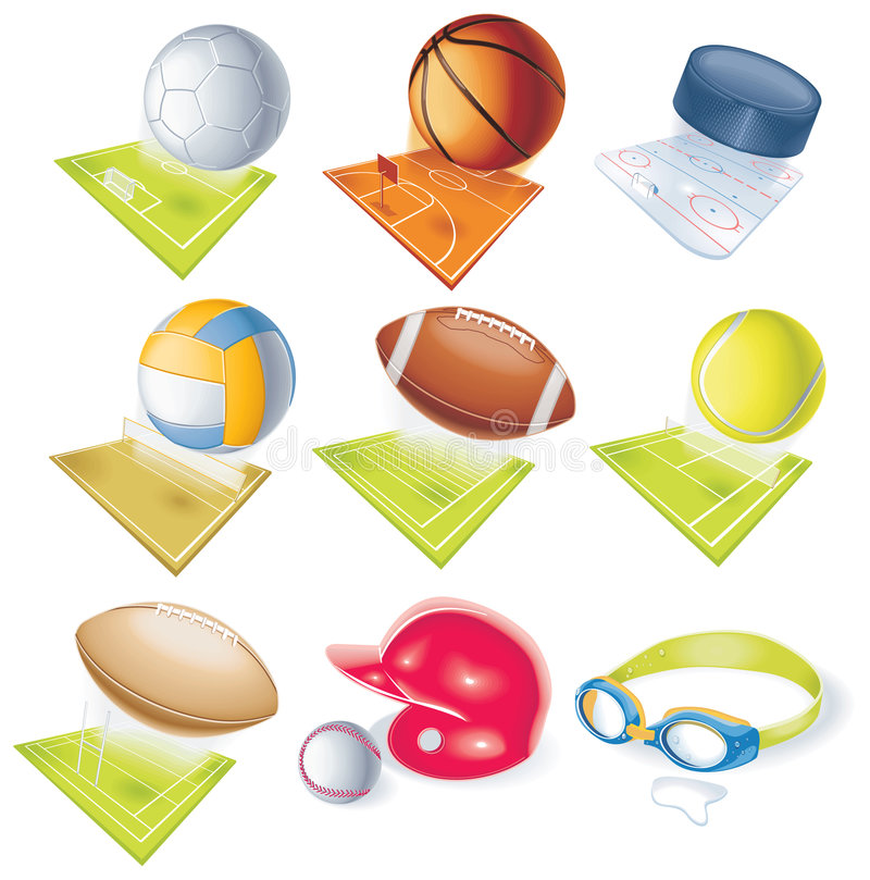 Free Detailed Vector Sport Icons Stock Image - 8220191
