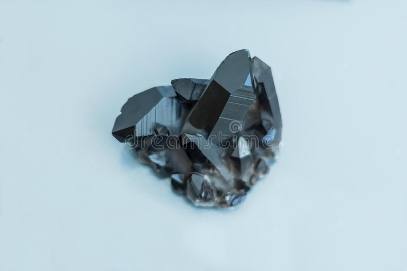 Detailed view of a mineral, brazilian dark hematite stock image