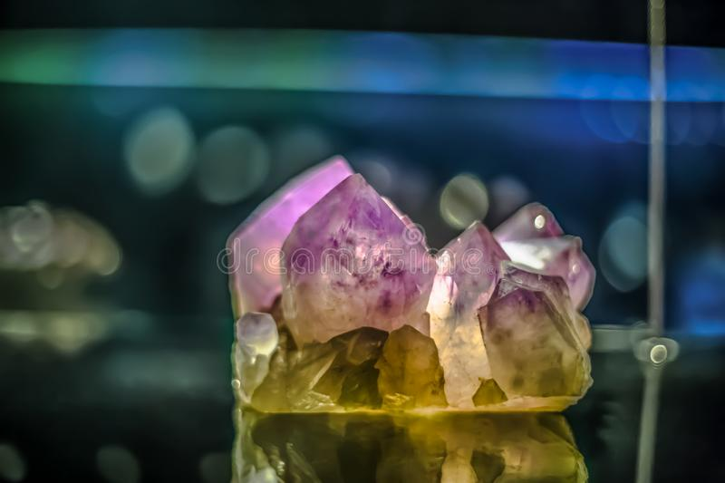 Detailed view of a mineral stone on blurred background royalty free stock image