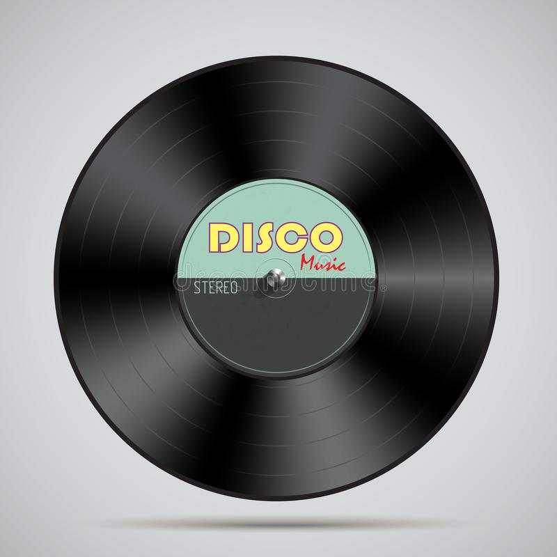 Detailed vinyl record. Vector illustration stock illustration