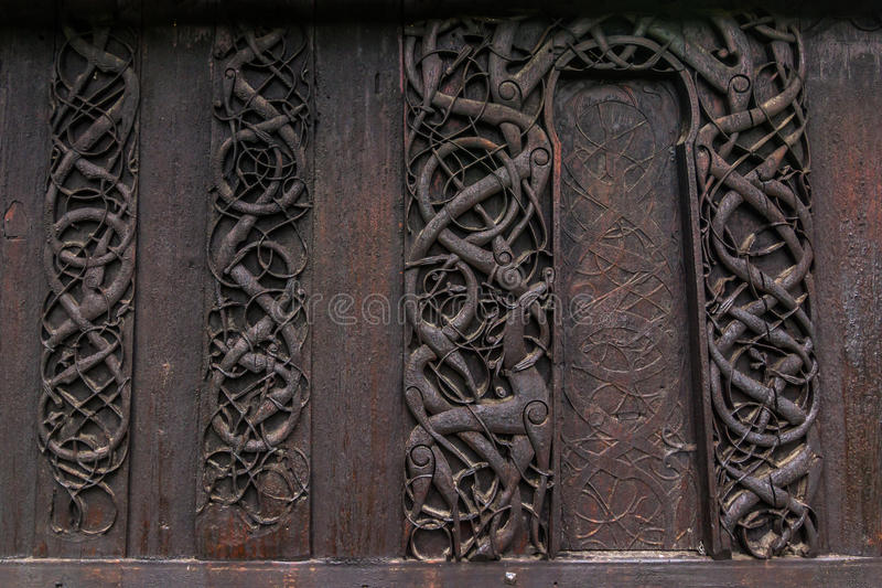 Detailed Wall Of The Urnes Stave Church Norway Stock Photo - Urnes norway map