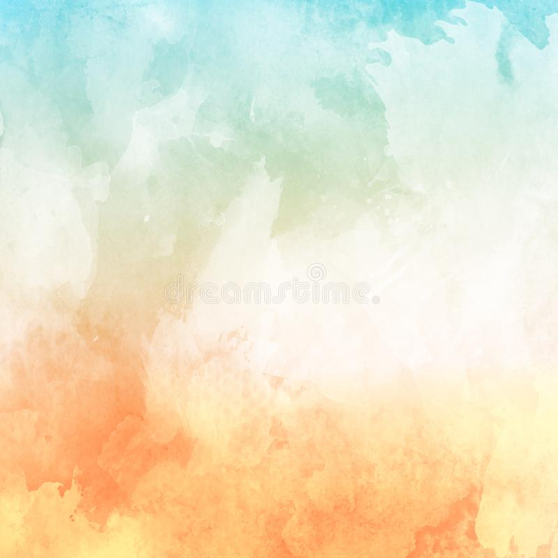Watercolour texture background in pastel shades stock illustration