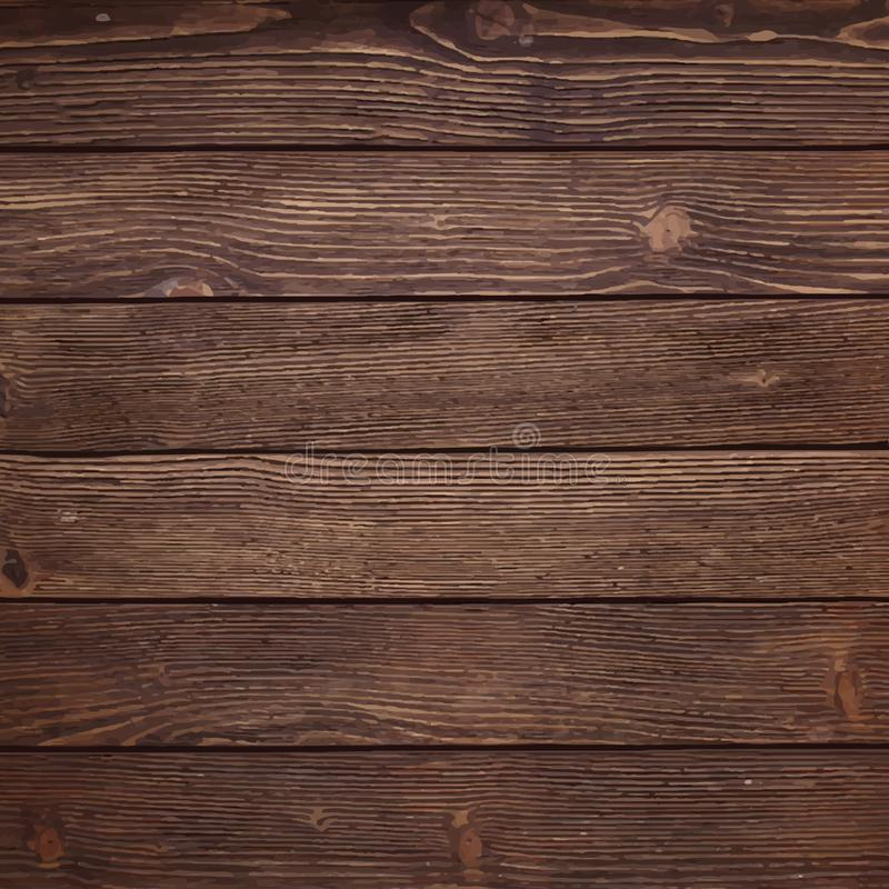 Detailed Wooden Texture Background Illustration Stock