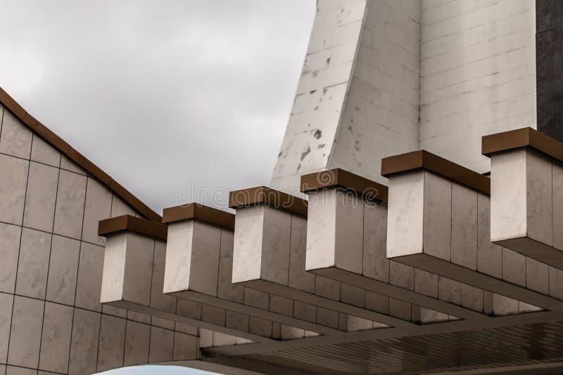 Detailes del arcitecture de Grodno fotografía de archivo