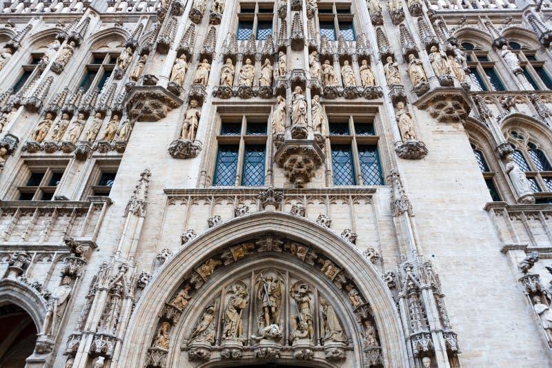 Detaillierte Angaben zum Brüsseler Rathaus, Belgien stockfotografie