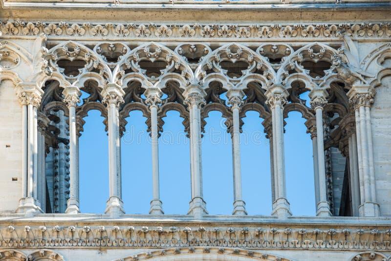 Details über Fassade des Notre-Dame de Paris stockbilder