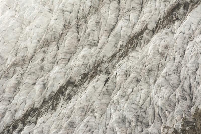 Glacier details. Details on the Aletsch glacier. Glaciers worldwide are melting at an alarming rate and Aletsch glacier is no exception royalty free stock photography
