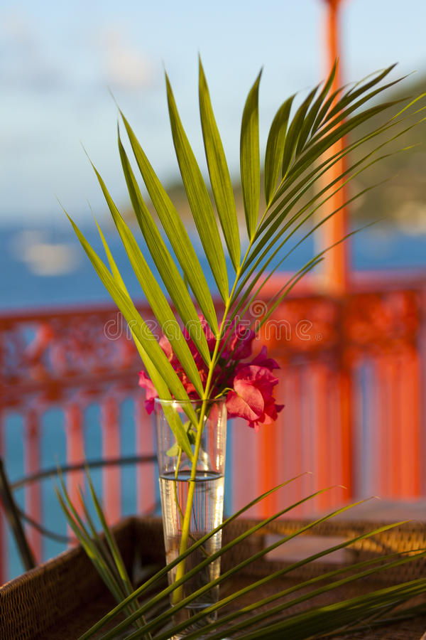 Details from American & Caribbean Luxury Private Villa stock photo