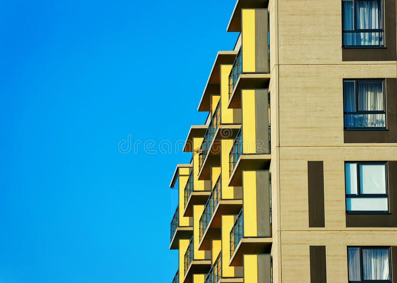 Details of Apartment house home residential building complex real estate. Details of Apartment house and home residential building complex real estate concept royalty free stock photography