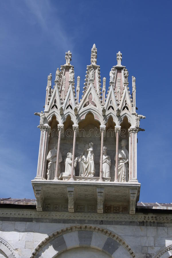 Details of the architecture of Campo Santo. Pisa, Italy. royalty free stock image
