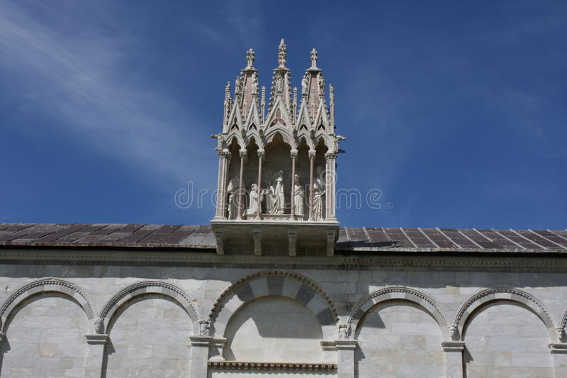 Details of the architecture of Campo Santo. Pisa, Italy. stock photo