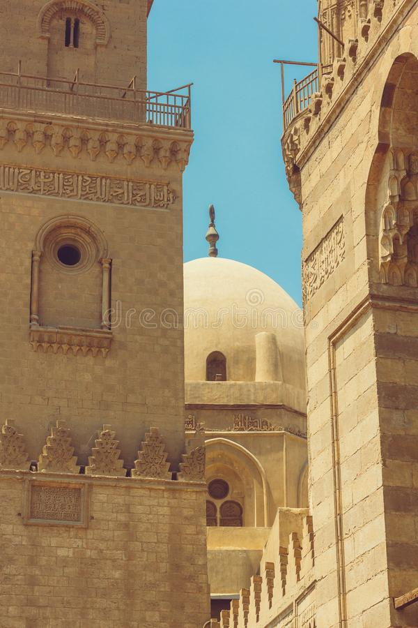 Details of architecture medieval Cairo. Closeup royalty free stock photos