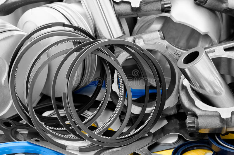 Details of auto engine stock photos
