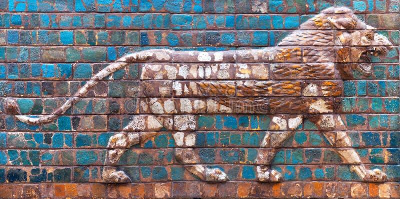 Details of the Babylonian Ischtar Tor stock photos