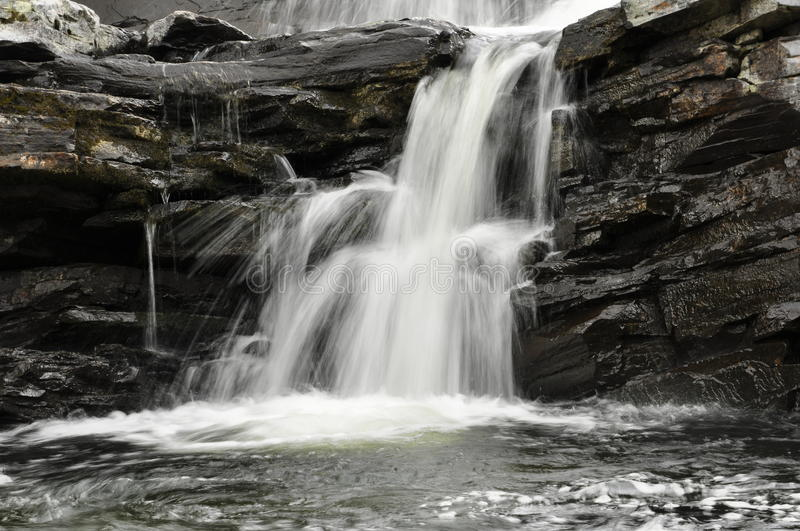 Details of beautiful waterfall royalty free stock image