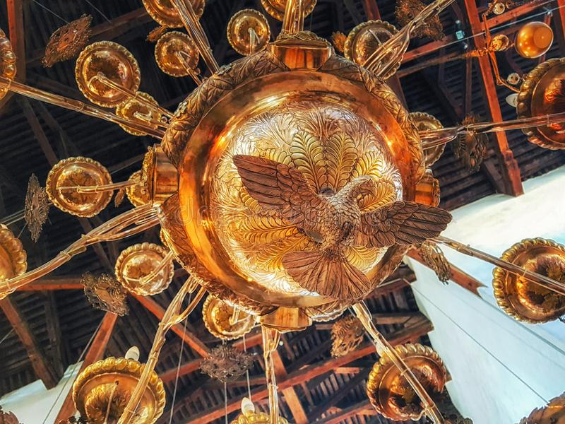 Details binnen mening van de Geboorte van Christuskerk Bethlehem in Isra?l stock fotografie