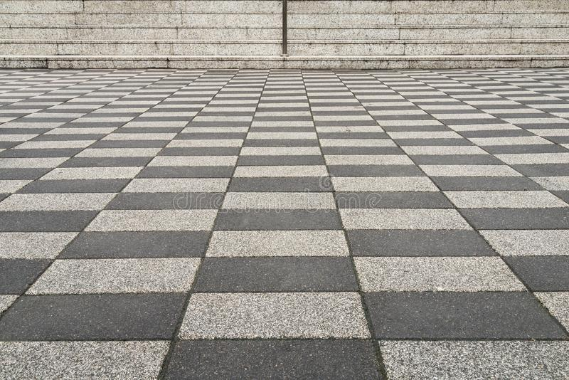 Black and white checkered brick background stock photos