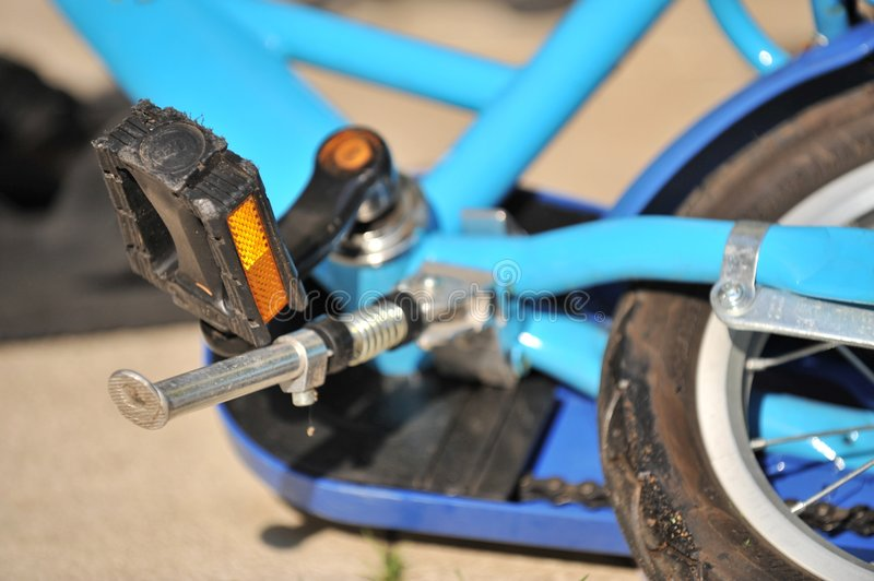 Download Details of a Blue Bicycle stock photo. Image of reflector - 5050498