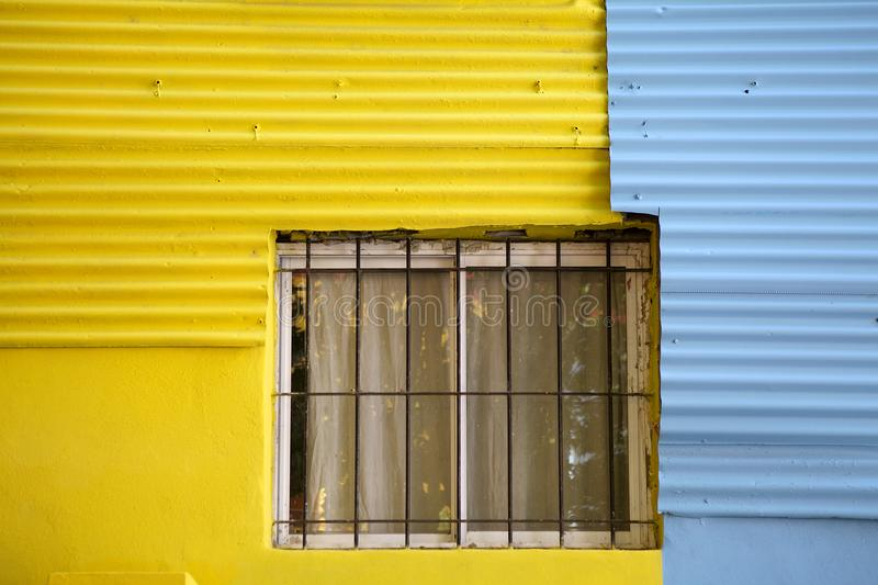 Caminito in La Boca, Buenos Aires, Argentina. Details of a brightly painted house along the Caminito, a walkway, in La Boca in Buenos Aires, Argentina. La Boca stock photo