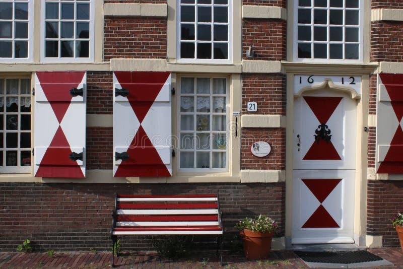 Details on building, Kort Galgewater, Leiden royalty free stock photo